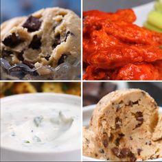 Healthy versions of unhealthy snacks tasty videos, food videos, healthy desserts, healthy recipes Snack Recipes, Cooking Recipes, Healthy Recipes, Healthy Tasty Snacks, Healthy Study Snacks, Healthy Food For Kids, Healthy Munchies, Healthy Recipe Videos, Breakfast Healthy