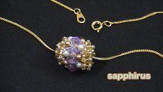 【ビーズステッチ】シードビーズとスワロフスキーで編むペンダントトップの作り方☆ - YouTube Beaded Bead, Beading Patterns, Hearts, Pendant Necklace, Diamond, Jewelry, Tutorials, Jewels, Necklaces