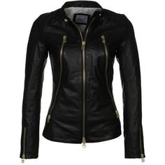 SLY 010 Addition Leather jacket (5,445 MXN) ❤ liked on Polyvore featuring outerwear, jackets, tops, leather jackets, coats, black, pocket jacket, 100 leather jacket, leather zip jacket and zipper jacket