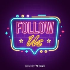 Neon follow us background Business Inspiration, Web Design Inspiration, Neon Design, Graphic Design, Cute Black Wallpaper, Neon Logo, Candy Brands, Bussiness Card, Neon Aesthetic