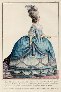18th century fashion plate.