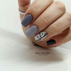 Manicure Y Pedicure, Mani Pedi, Gray Nails, Cute Nails, Beauty Hacks, Nail Designs, Nail Polish, Nail Art, Manicures