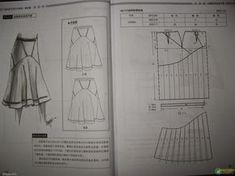 Design and style skirte--etekler - modelist kitapları Pattern Cutting, Pattern Making, Sewing Projects For Beginners, Sewing Tutorials, Dress Patterns, Sewing Patterns, Pola Rok, Sewing Collars, Modelista