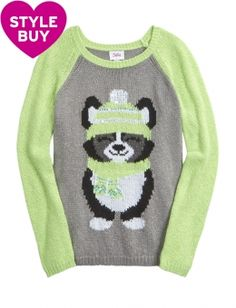 Cable Knit Critter Sadie Sweater @ Justice size 12