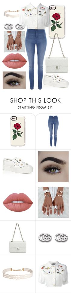"""eh who cares nobody matches brands"" by ryleedamnsartorius on Polyvore featuring Casetify, Jane Norman, Marc Jacobs, Lime Crime, Chanel, Gucci, Humble Chic and Moschino"