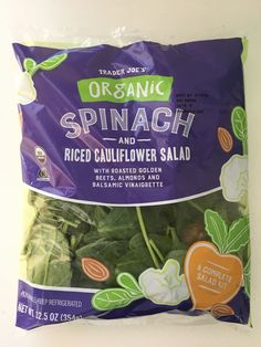 Our 5 Favorite Salad Kits from Trader Joe's — Salad Kits Roasted Almonds, Trader Joes Salad, Jackfruit Cake, Salad Kits, Food Spot, Cauliflower Salad, Breakfast Cake, Food Trends, Meals