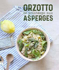 Orzotto de printemps aux asperges (orge perlé) - Mango & Salt