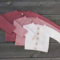 Ravelry: Minstenjakke pattern by Klompelompe Knit Jacket, Baby Knitting Patterns, My Girl, Ravelry, Little Girls, Infant, Bell Sleeve Top, Baby Knits, Knitted Baby