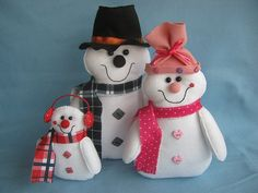 Família de Bonecos de Neve!!!