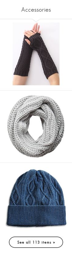 """""""Accessories"""" by c-a-marie2000 ❤ liked on Polyvore featuring accessories, gloves, knit gloves, christmas gloves, crochet gloves, crochet arm warmers, arm warmer gloves, scarves, écharpe and infinity loop scarves"""