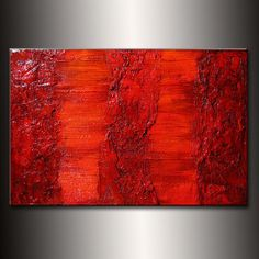 Original Rich Textured  Abstract Painting by by newwaveartgallery, $300.00