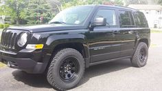 2012 lifted jeep patriot with painted gas tank cover and fender flares projects to try. Black Bedroom Furniture Sets. Home Design Ideas