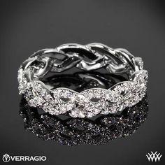braided ring | verragio-wed-4023-eternal-braid-diamond-wedding-ring-in-18k-white-gold ... #weddingring