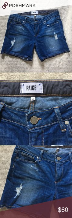 Paige distressed Jean shorts Paige Distressed Jean Shorts Paige Jeans Shorts Jean Shorts