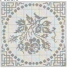 Roses in filet crochet Filet Crochet Charts, Crochet Cross, Crochet Motif, Crochet Stitches, Crochet Patterns, Cross Stitch Rose, Cross Stitch Flowers, Cross Stitch Embroidery, Embroidery Patterns