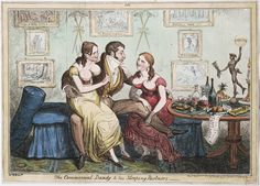"""The Commercial Dandy and his sleeping partners"""" by George Cruikshank. It features Dr Eady, clap doctor, and is dated 1821.Lewis Walpole Library Digital Collection"""