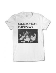 6441a9e3 Girl's Sleater-Kinney Live T-shirt Фирма American Apparel, Музыкальные  Группы, Полиграфический