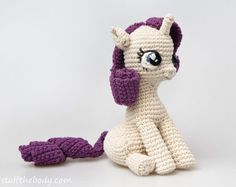 Sitting Pony Amigurumi Pattern by StuffTheBody #amigurumi #crochet $5.50