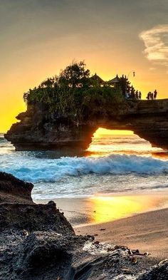 "orchidaaorchid: ""The Glow.. Tanah Lot, Bali, Indonesia """