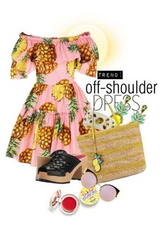 """""""Untitled #2386"""" by hexy ❤ liked on Polyvore featuring Dolce&Gabbana, Supergoop!, Elizabeth Cole, Ashley Pittman, Draper James, Swedish Hasbeens and Fendi"""