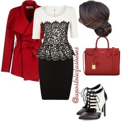 Apostolic Fashions #810 by apostolicfashions on Polyvore featuring St. John, BGN and Yves Saint Laurent
