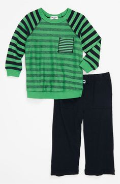 Splendid Stripe Top & Knit Pants (Infant) | Nordstrom