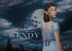 Sims Costume, Los Sims 4 Mods, Wendy Dress, Sims Stories, Play Sims, Sims 4 Mm Cc, Sims 4 Cas, Peter Pan Disney, The Sims4