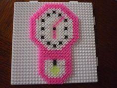 Clock hama perler by mamypapou