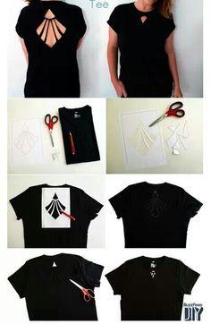 Cut out tee shirt