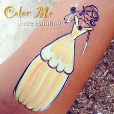 Belle Face Painting - Color Me Face Painting #facepaint #facepainting…