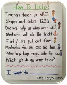 Identify community workers and the services they provide. This is a great poem/song to rememberer some of the community helpers and what they do. Community Helpers Kindergarten, Kindergarten Social Studies, School Community, Classroom Community, Community Helpers Art, Community Jobs, Kindergarten Poetry, Preschool Songs, Preschool Themes