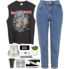 Untitled #462 by amy-lopez-cxxi on Polyvore featuring polyvore fashion style Topshop Converse VIPARO Gathering Eye Pomax Ethan Allen black tumblr band grunge plants
