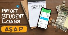 Are you bummed about paying off your student loans for the next 25 years? Think again. We've got tips to help you with paying off student loans quickly! Student Loan Payoff Calculator, Student Loan Payment, Federal Student Loans, Paying Off Student Loans, Secured Loan, Student Loan Forgiveness, Debt Snowball, Tax Refund, How To Stay Motivated