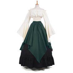 Rolecos Women Renaissance Medieval Dress Gothic Lolita Chiffon Dresses Off Shoulder Strapless Irregular Evening Dress Costumes Victorian Fancy Dress, Gothic Dress, Gothic Lolita, Victorian Dresses, Medieval Costume, Medieval Dress, Medieval Gothic, Medieval Fashion, Medieval Clothing