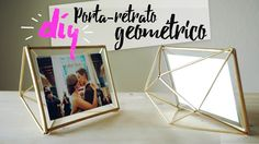 DIY: Porta-retrato geométrico / West Elm Hack (Get the look for less)