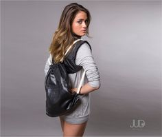 Black python leather backpack  tote bag  for women  by JUDtlv, $199.00