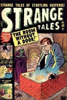 A cover gallery for the comic book Strange Tales Vintage Comic Books, Vintage Comics, Horror Comics, Marvel Comics, Creepy Comics, Marvel Masterworks, Jim Steranko, Strange Tales, Doctor Strange