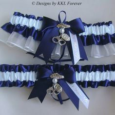 Police Wedding Garters Handcuff Charms Navy Blue and White Garter Set The Office Wedding, Police Wedding, Firefighter Wedding, Sister Wedding, Dream Wedding, Wedding Day, Wedding Stuff, Wedding 2017, Wedding Attire