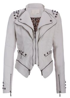 Rocking Off White Studded Punk Style PU Faux Leather Slim Fit Moto Jacket - Size Small Pretty Attitude http://www.amazon.com/dp/B00GP3567S/ref=cm_sw_r_pi_dp_zv1jub1R012KX