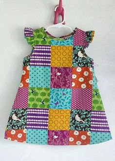 Best Ideas For Patchwork Baby Ideas Kids Toddler Dress, Toddler Outfits, Baby Dress, Kids Outfits, Baby Girl Dress Patterns, Little Dresses, Little Girl Dresses, Fashion Kids, Sewing Clothes