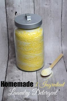Homemade 3 Ingredient Laundry Detergent #homemade #DIY - A Spark of Creativity