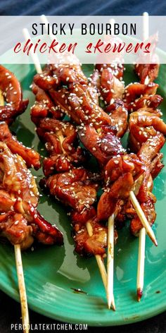 ) The post Sticky Bourbon Chicken Skewers (Easy Party Appetizer!) appeared first on Appetizers. Skewer Appetizers, Make Ahead Appetizers, Chicken Appetizers, Appetizers For Party, Chicken Recipes, Seafood Appetizers, Simple Appetizers, Recipe For Bourbon Chicken, Appetizers With Meat
