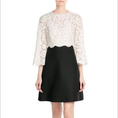 dotluxury on FashionTap: Lace is on- trend right now and we are LOVING it! #dotluxury #cocktaildress #valentino #blackandwhite #lace #dress #luxuryfashion                                       (1) Valentino Wool-Silk Lace Cocktail Dress  (2) Discover our luxury community