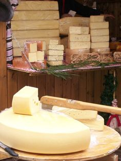 Rounds of cheese (Villach, Austria)
