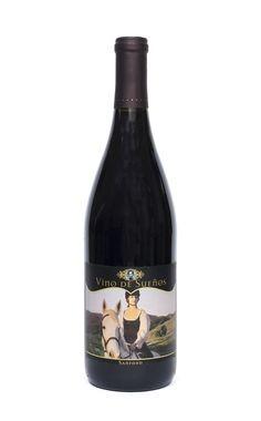 "Art by Zoë Nathan. ""Ivy."" Oil paint on canvas. 18""x24"" 2012. Sanford 2011 Pinot Noir. Vino de Sueños. Design by UVA Design Studio."