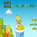 Bart y Homero en Mario Bros
