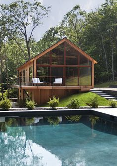 Hudson Woods energy efficient modern houses in the Hudson River Valley - by Lang Architecture
