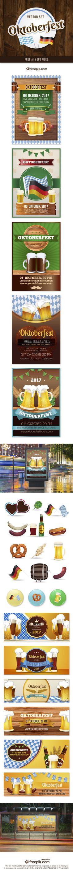 Free Oktoberfest Vector Set