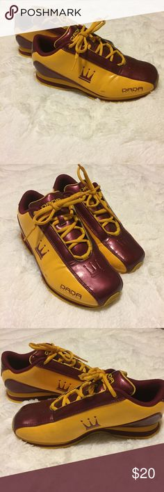86de18fccecd Dada Supreme Men s Gold  amp  Burgundy Sneakers Size 7 These are good  condition with some