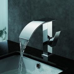 Contemporary Waterfall Bathroom Sink Faucet(Chrome Finish)  Item ID #00223873 109.00